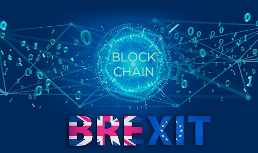 An-image-showing-brexit-and-blockchain-bold-characters