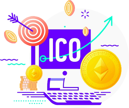 An Illustration depicting ICO Creation