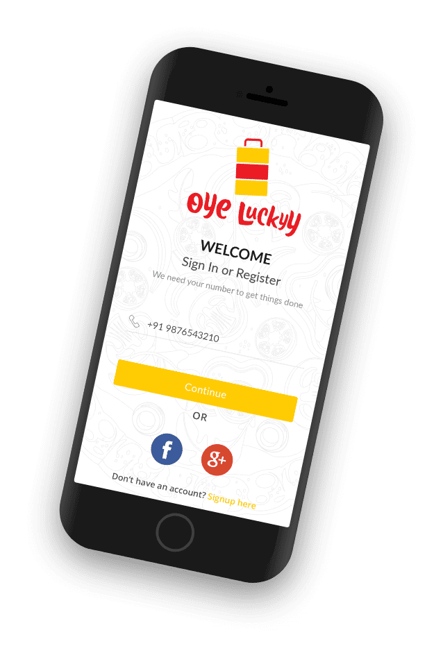 Oye Lucky Welcome Screen